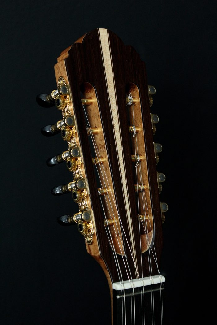 Headstock Viola Caipira 10 Cordas